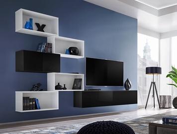 Dzīvojamās istabas mēbeļu komplekts ASM Blox VIII White/Black