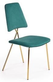 Ēdamistabas krēsls Halmar K411 Dark Green/Gold