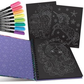 Nebulous Stars Black Pages Coloring Book 11111