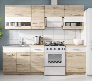 WIPMEB Rio Kitchen Set 240cm San Remo Oak/White Matt