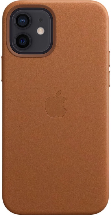 Apple MagSafe Leather Back Case For Apple iPhone 12/12 Pro Saddle Brown