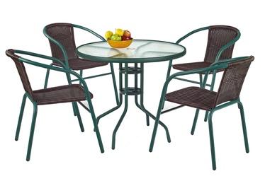 Dārza galds Halmar Grand 80 Dark Green, 80 x 80 x 72 cm