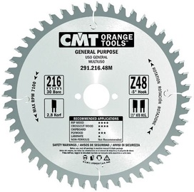 CMT Saw Blade Z24 a 15° b 15° ATB 160x20mm