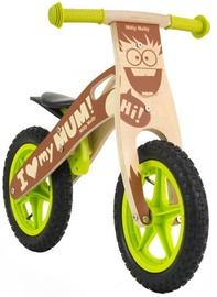 Velosipēds Milly Mally KING Wooden Balance Bike Boy 22305