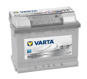 Akumulators Varta SD D15, 63 Ah, 610 A, 12 V