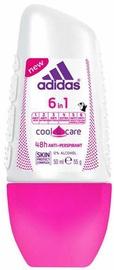 Dezodorants sievietēm Adidas 6in1 Cool & Care 48h Roll On Antiperspirant, 50 ml