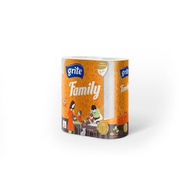 Grite Family Paper Towel 14.94m 2pcs White