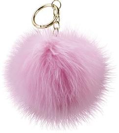 Beeyo Soft Fluffy Ring The Pompom & Smartphone Finger Holder Pink/Silver