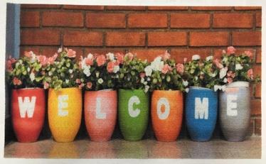 Efco Welcome Door Mat TPR M1129 45x75cm