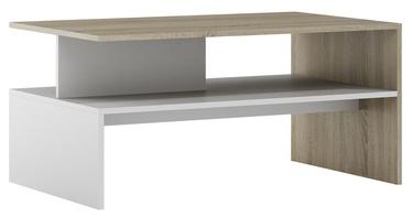 Kafijas galdiņš Szynaka Meble Helios Sonoma Oak/White, 1000x620x480 mm