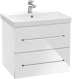 Villeroy & Boch Avento Bath Cabinet with Basin 567x447mm Crystal White