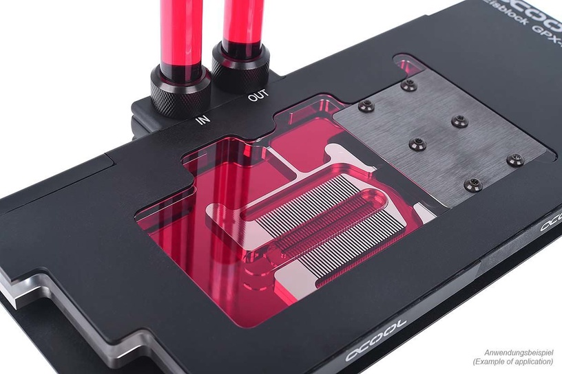 Alphacool Eiswasser Crystal Red UV-active 1L