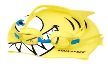 Aqua Speed Swimming Pool Glass Fish + Yellow Cap Kit