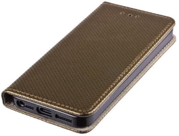 Mocco Smart Magnet Book Case For LG K10 2018 Dark Gold