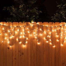 Virtene Led lāstekas, 160 LED, silti balta, 3,1 m
