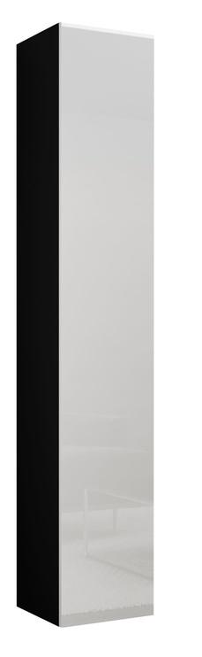 Cama Meble Vigo 180 Full Cabinet Black/WhiteGloss