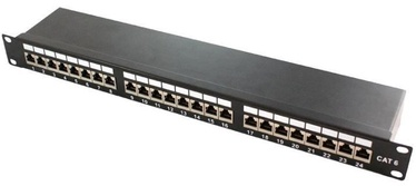 LogiLink Patch Panel for CAT 6a STP 24 Keystone Black