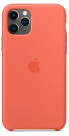 Apple Silicone Back Case For Apple iPhone 11 Pro Clementine Orange