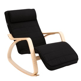 Atzveltnes krēsls Songmics Black, 67x115x87 cm