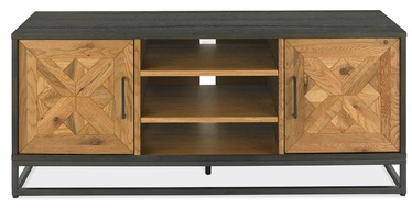 ТВ стол Home4you Indus Mosaic Oak/Black, 1330x380x550 мм