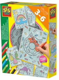 SES Creative Colouring Glitter Cards 14621