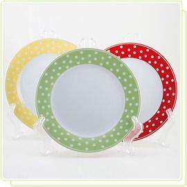 Тарелка Maestro, белый/зеленый, 6 шт.
