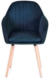 Ēdamistabas krēsls Homede Lacelle, zila