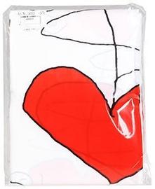 Штора для ванной Ridder Textile, белый/красный, 2000 мм x 1800 мм
