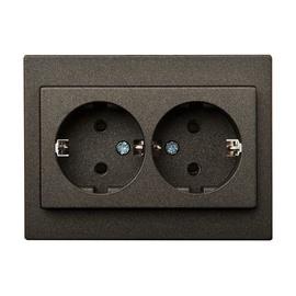 Liregus EPSILON 1+1 Z/K Socket Black