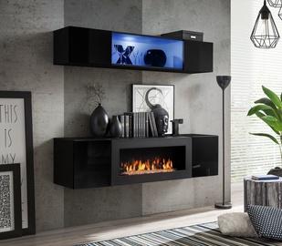 Dzīvojamās istabas mēbeļu komplekts ASM Fly N3 Black