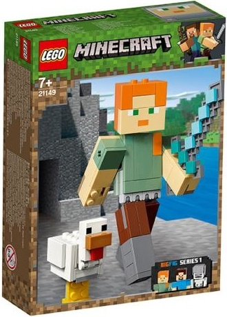Konstruktors LEGO Minecraft Alex BigFig With Chicken 21149