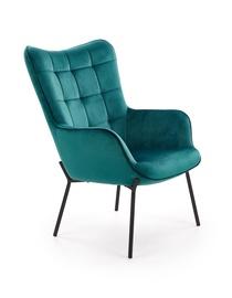 Ēdamistabas krēsls Halmar Castel l Dark Green/Black, 1 gab.