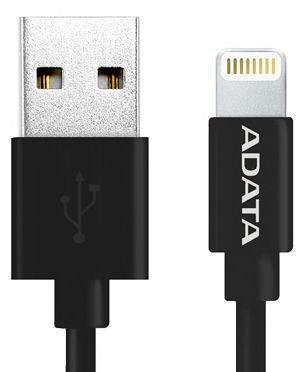 Adata Sync Charge Lightning Cable for iPhone/iPad/iPod 1m Black