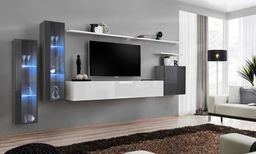 Dzīvojamās istabas mēbeļu komplekts ASM Switch XI Graphite/White