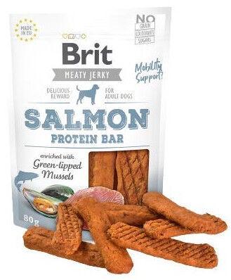 Brit Jerky Salmon Protein Bar delikatese 80g
