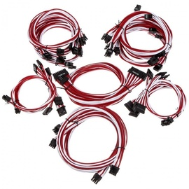 Super Flower Sleeve Cable Kit Pro White/Red