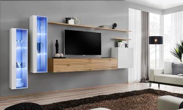 Dzīvojamās istabas mēbeļu komplekts ASM Switch XI White/Wotan Oak
