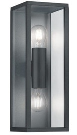Trio Garonne antracīta sienas lampa, IP44, 2x E27