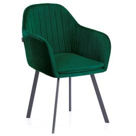 Ēdamistabas krēsls Homede, zaļa, 2 gab.