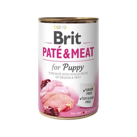 BRIT CARE CHICK&TURK PATE&MEAT FOR PUPPY