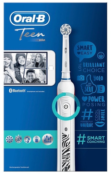 Электрическая зубная щетка Braun Oral-B Teen White
