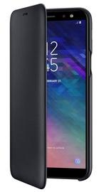 Samsung Galaxy A6+ Wallet Case Black