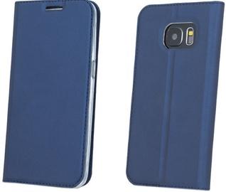 Blun Premium Matt Smart Magnetic Fix Book Case For Samsung Galaxy S8 Plus Dark Blue