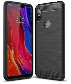 Hurtel Carbon Back Case For Xiaomi Redmi Note 6 Pro Black