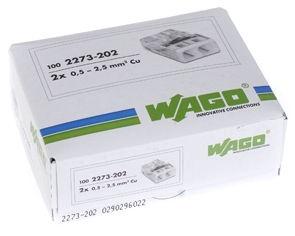 Wago 2 Wire terminal 2x0.5-2.5 100pcs