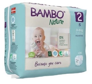 Bambo Nature Classic Diapers S2 30