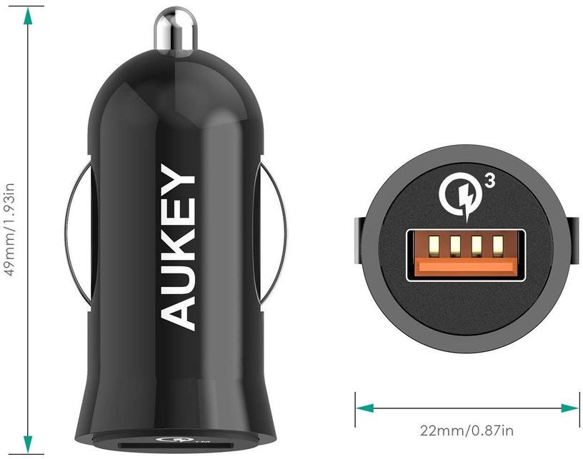 Aukey CC-T10 USB 3A 19.5W Black