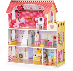 EcoToys Wooden Dollhouse With LED Lightning