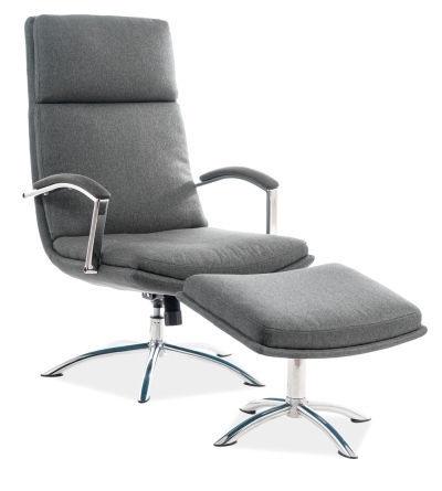 Atzveltnes krēsls Signal Meble Jefferson, pelēka, 63x80x109 cm