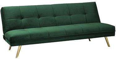 Диван-кровать Signal Meble Moritz Velvet Green/Gold, 181 x 106 x 88 см